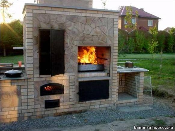 печка коптильня для дачи фото